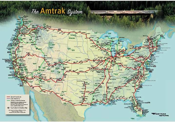 Rail Map US