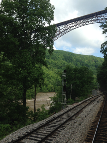 High Water under the New River Gorge Bridge